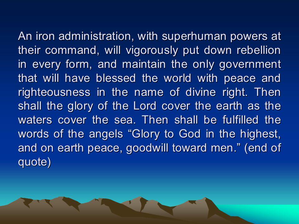 'Thy kingdom come.