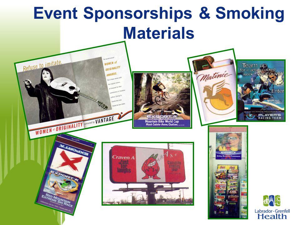 Event Sponsorships & Smoking Materials