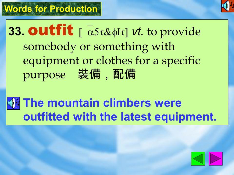 Words for Production 32. retrieve [rI`triv] vt.