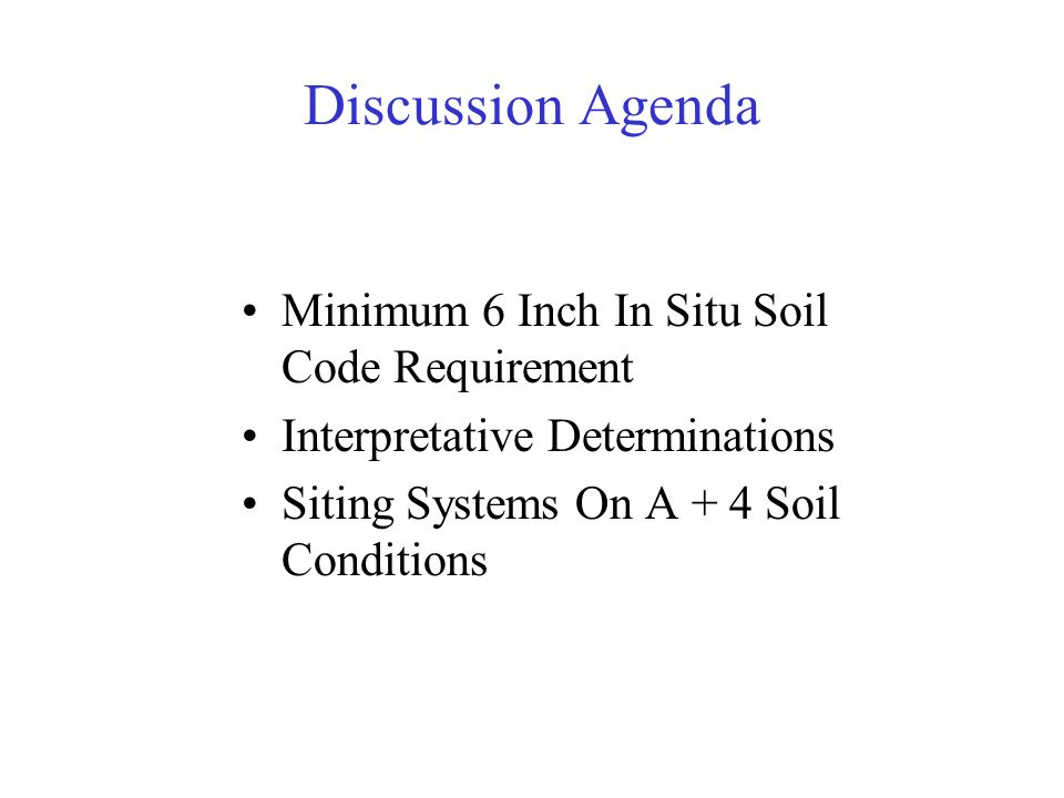 6 Inch Minimum Soil Requirement Comm 83.44 (3)(a) Wis.
