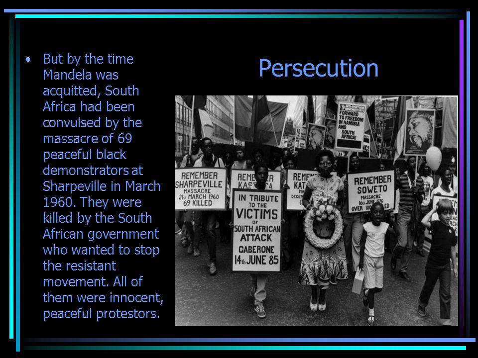 After the Sharpesville Massacre After the massacre, black South Africans were outraged.