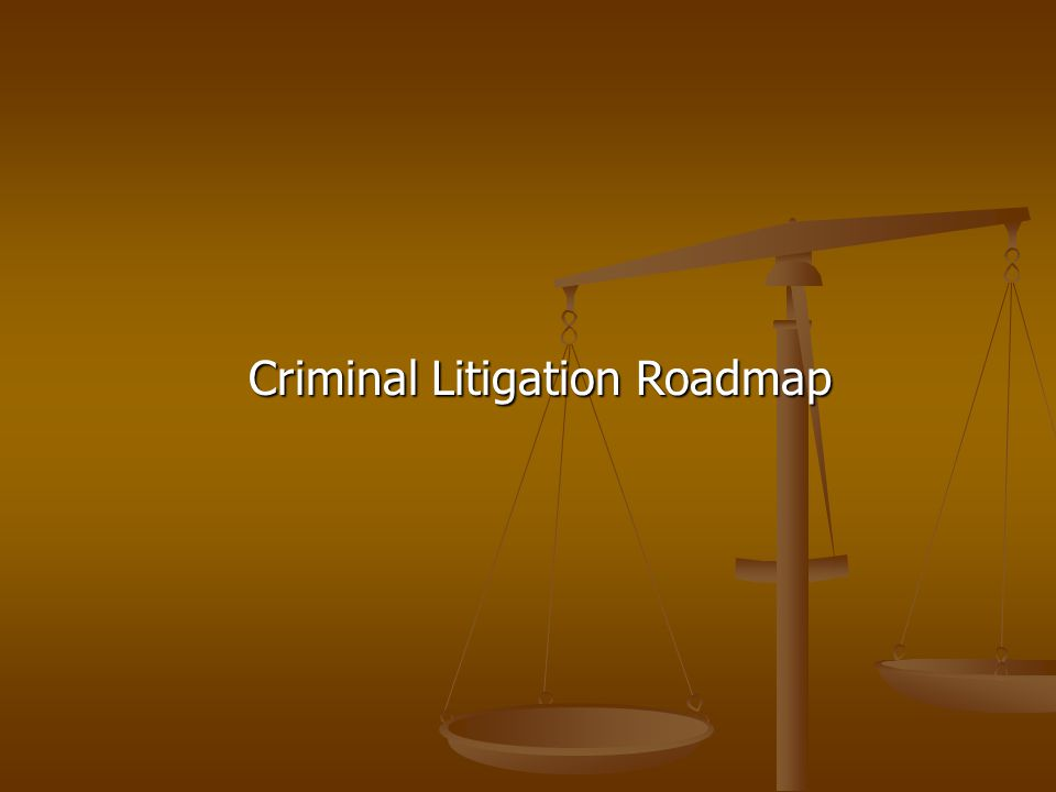 Criminal Litigation Roadmap