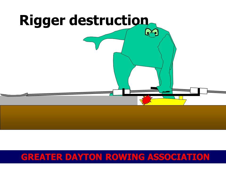 GREATER DAYTON ROWING ASSOCIATION Rigger destruction