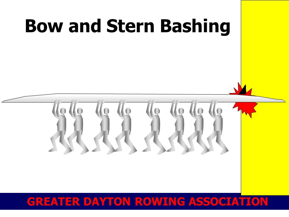 GREATER DAYTON ROWING ASSOCIATION Bow and Stern Bashing