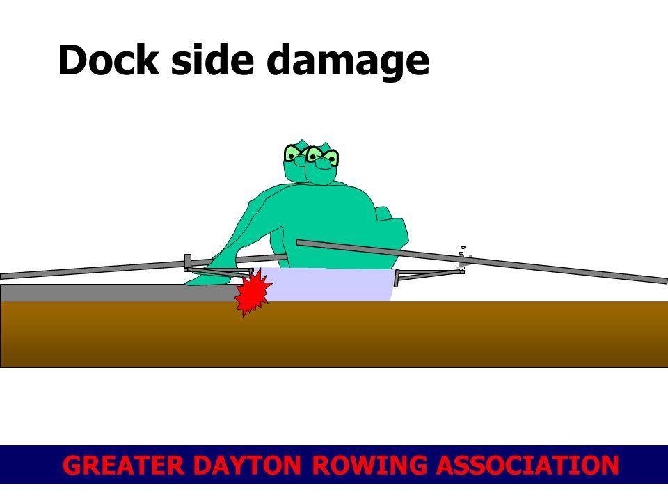 GREATER DAYTON ROWING ASSOCIATION Dock side damage