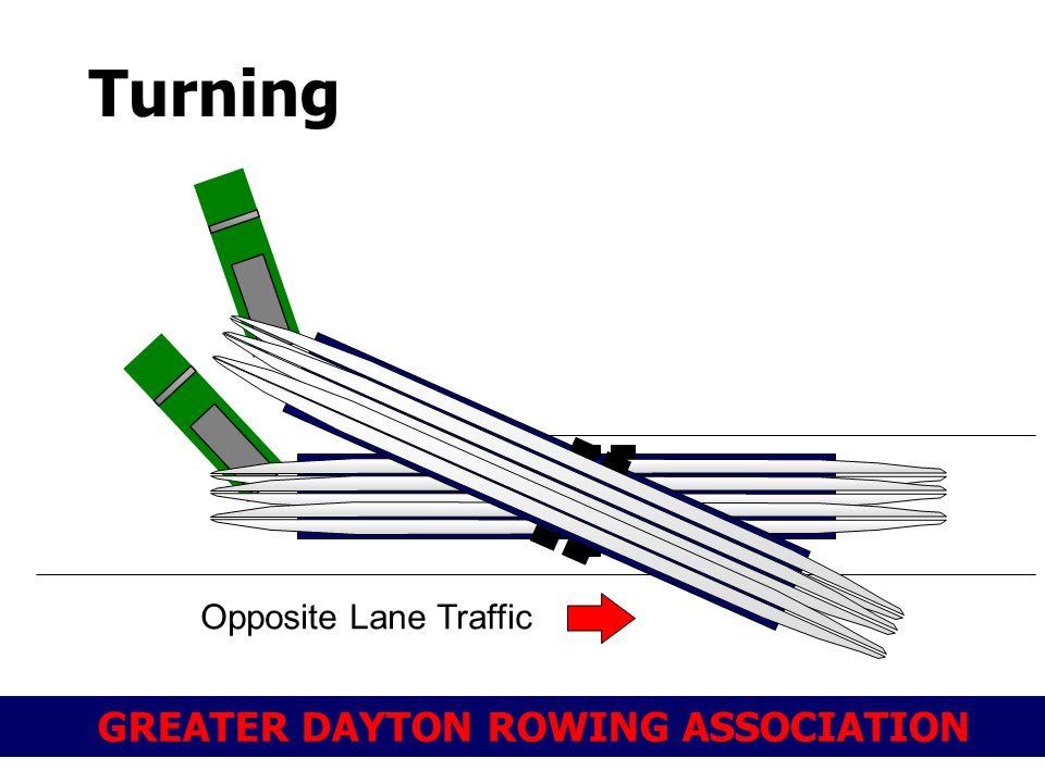 GREATER DAYTON ROWING ASSOCIATION Turning Opposite Lane Traffic