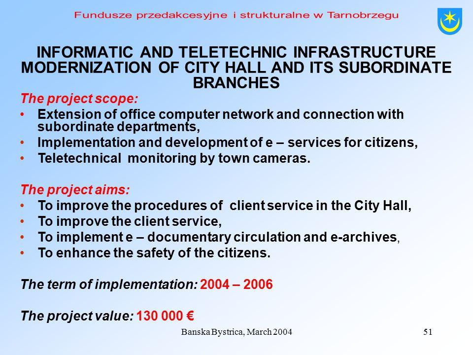 Banska Bystrica, March 200450 3.