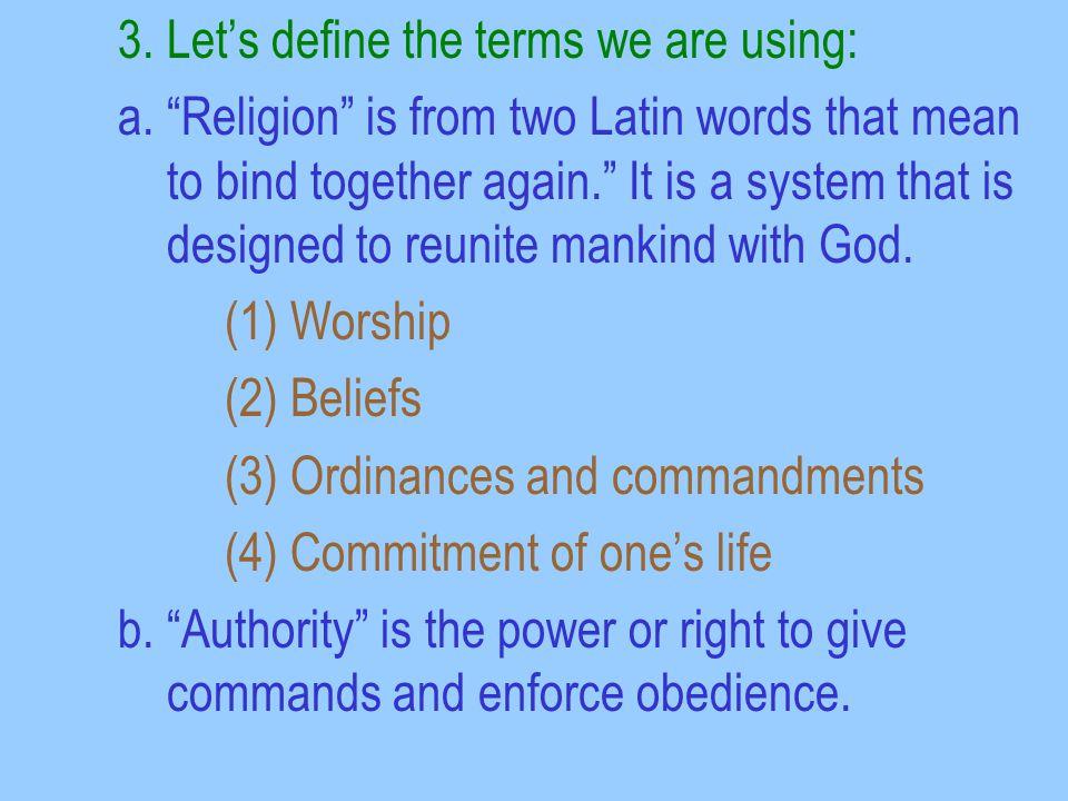 A Contrast Between Divine Authority & Human Authority Matt.