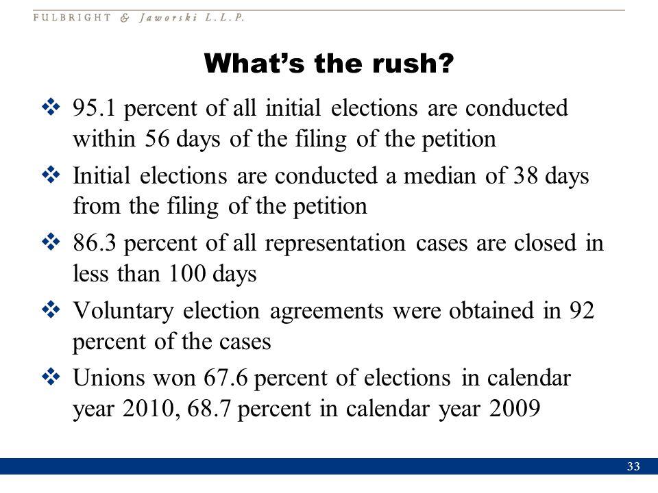 What's the rush.