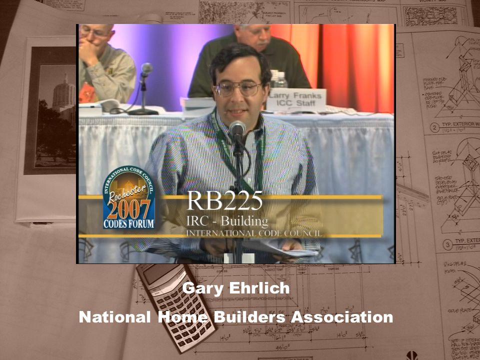 Gary Ehrlich National Home Builders Association