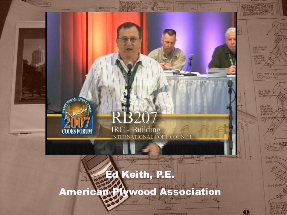 Ed Keith, P.E. American Plywood Association