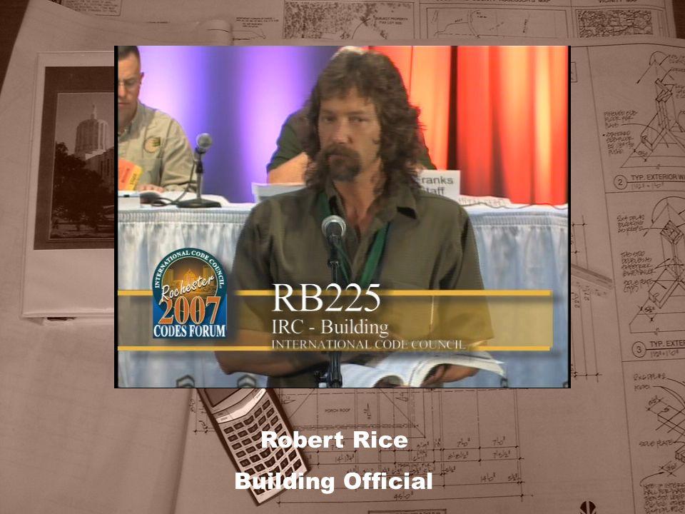 Robert Rice Building Official