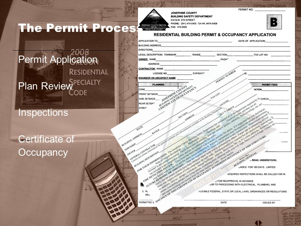 The Permit Process Permit Application Plan Review Inspections Certificate of Occupancy