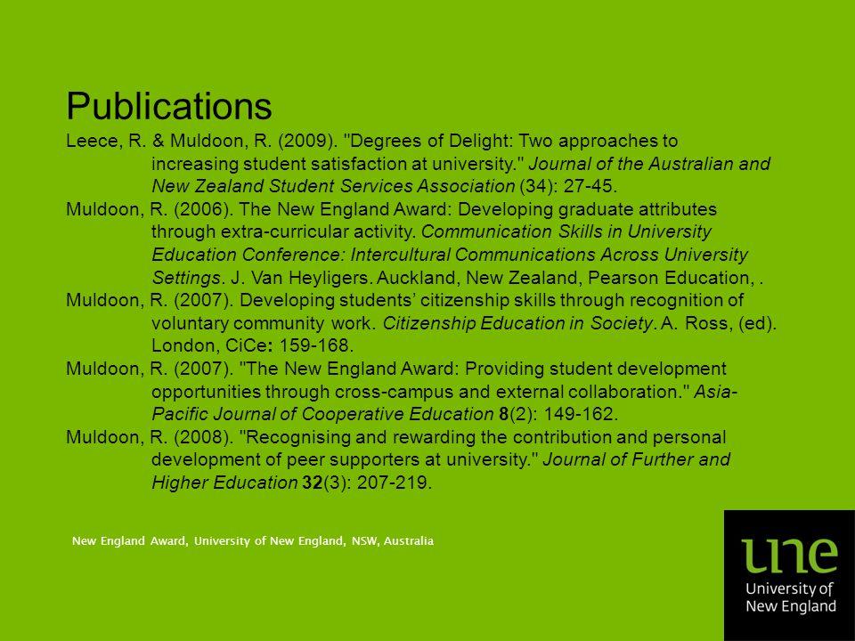 Publications Leece, R. & Muldoon, R. (2009).