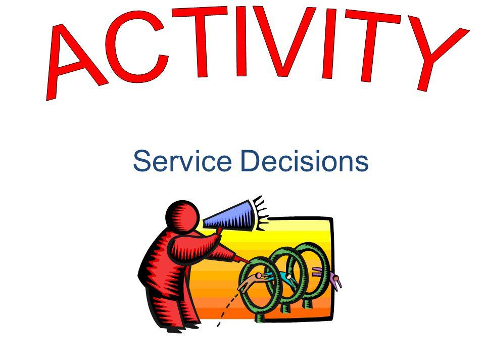 Service Decisions