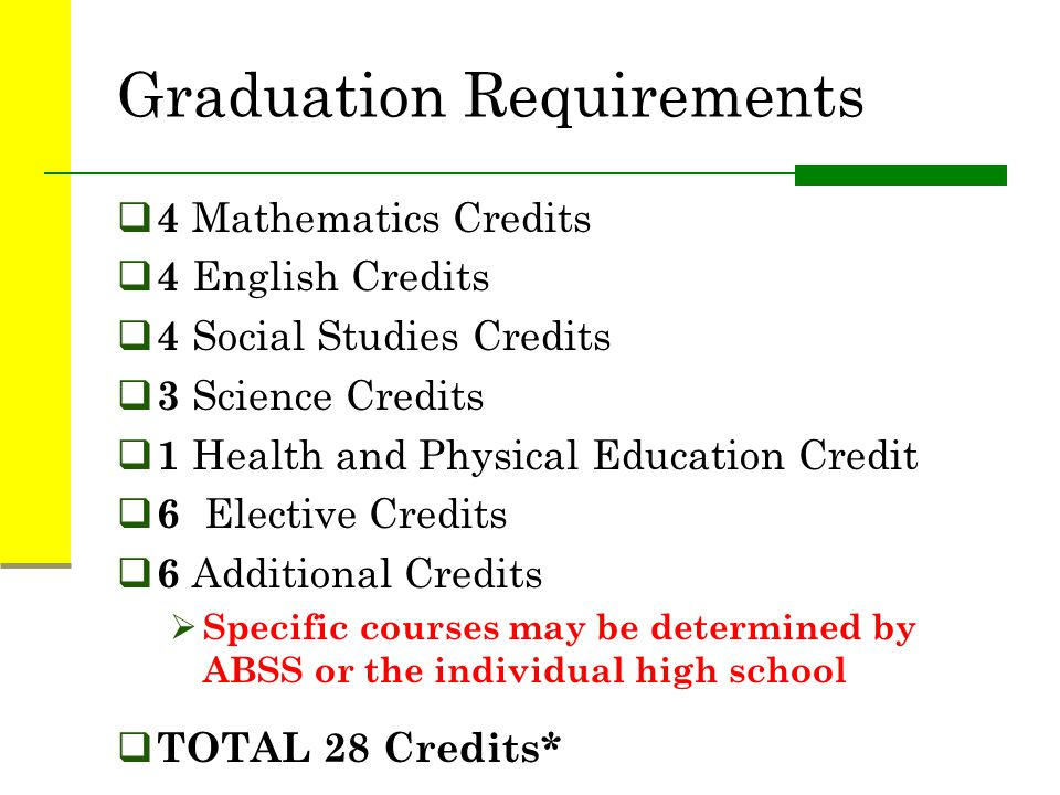 Earning Credits  A credit represents one course that a student takes for an entire semester and earns at least a 70 average for the course.