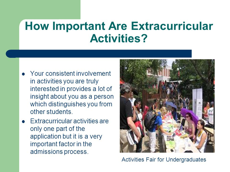How Important Are Extracurricular Activities.