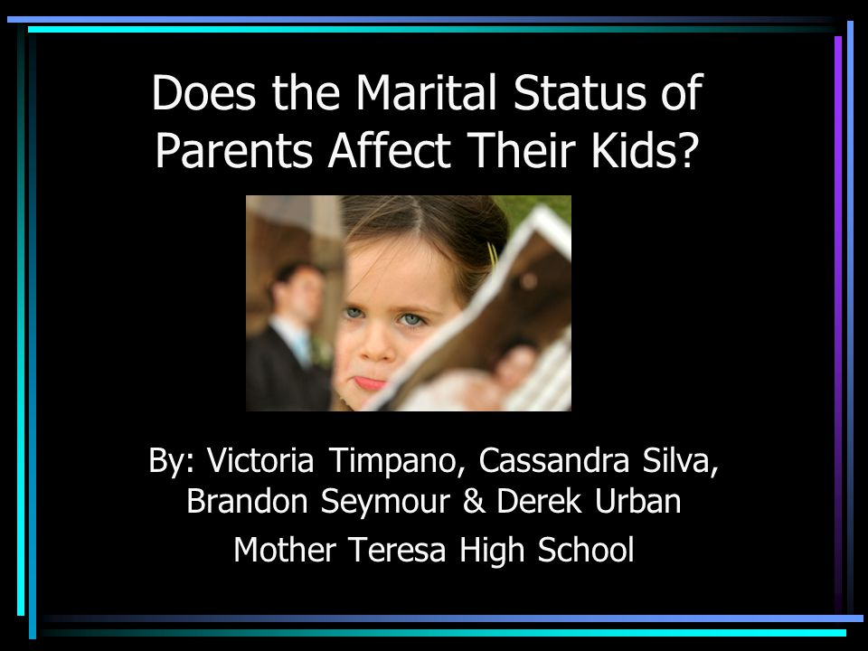 Table Of Contents: Introduction Definitions Data Sources Biases Hypothesis Divorce Rate In Ontario Mother Teresa Survey Results (slides 9-30) Conclusion