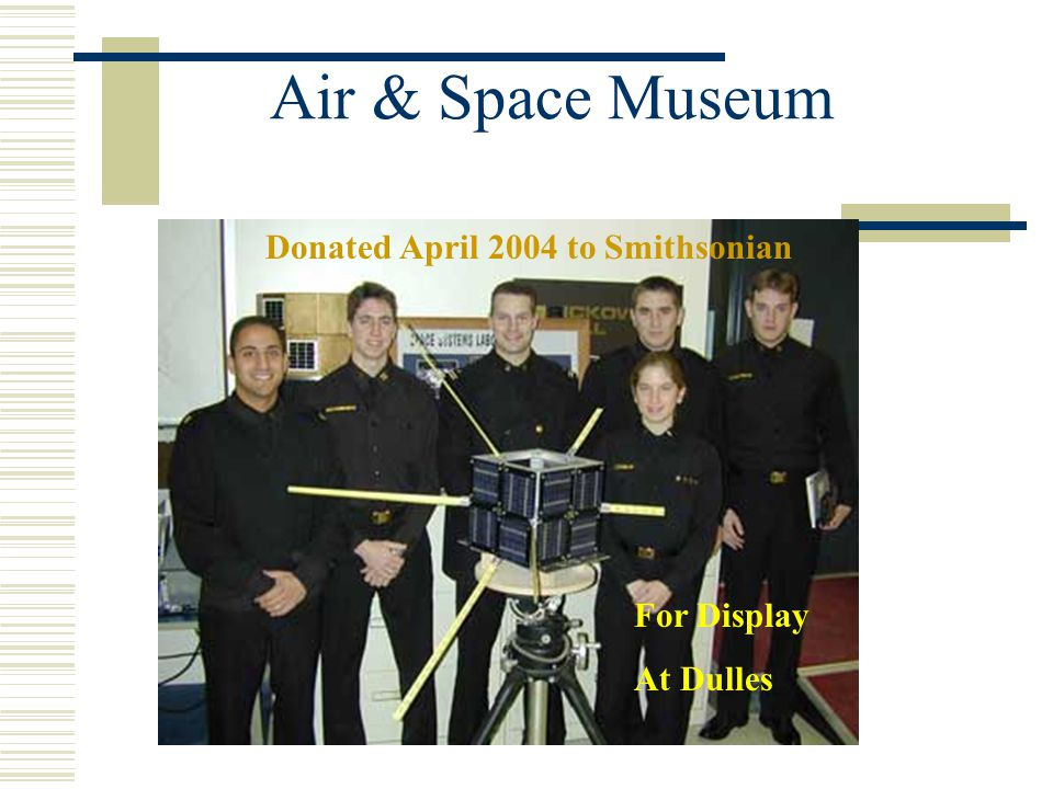Air & Space Museum Donated April 2004 to Smithsonian For Display At Dulles