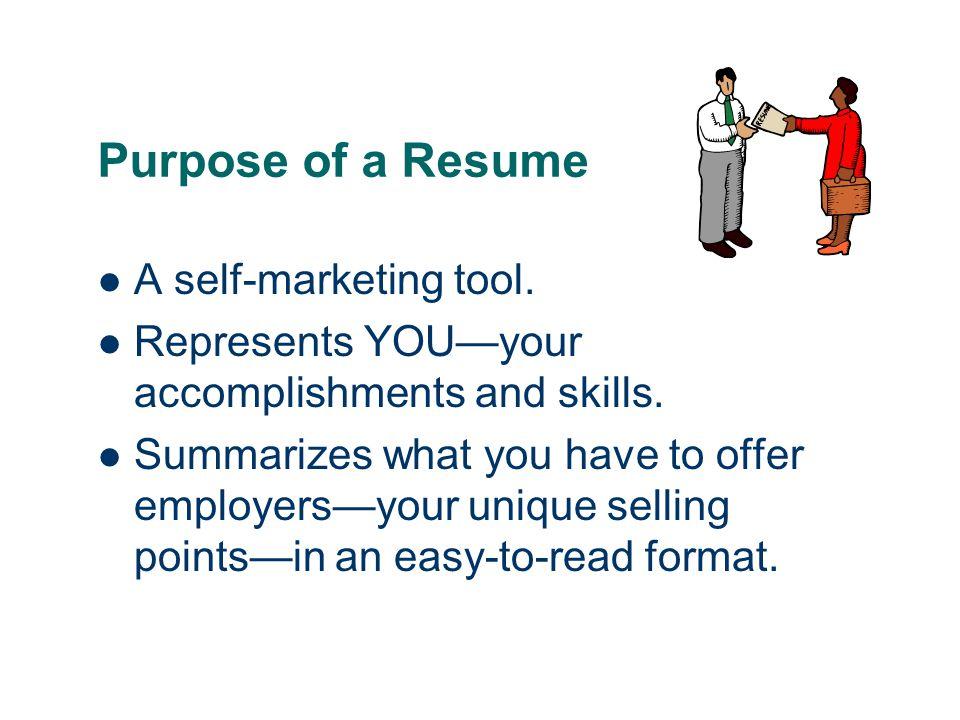 Basic Resume Outline