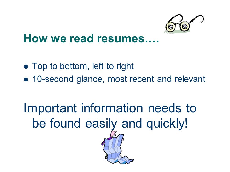 How we read resumes….