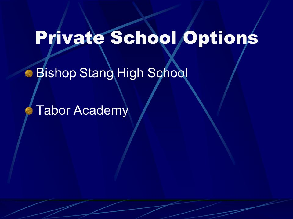 Private School Options Bishop Stang High School Tabor Academy