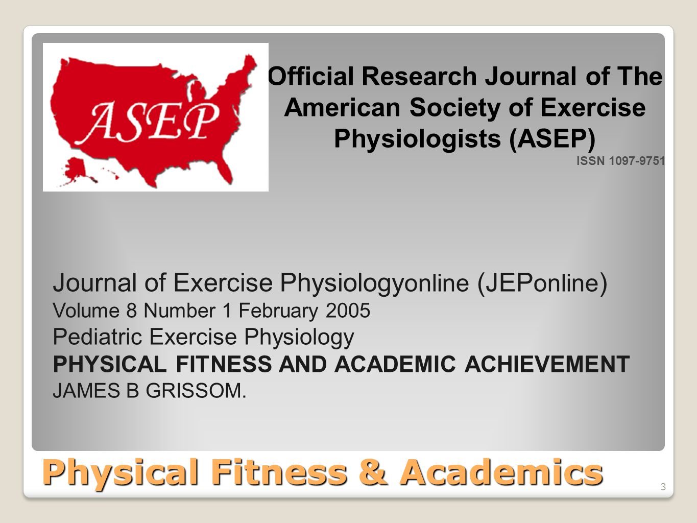 4 Physical Fitness & Academics 4