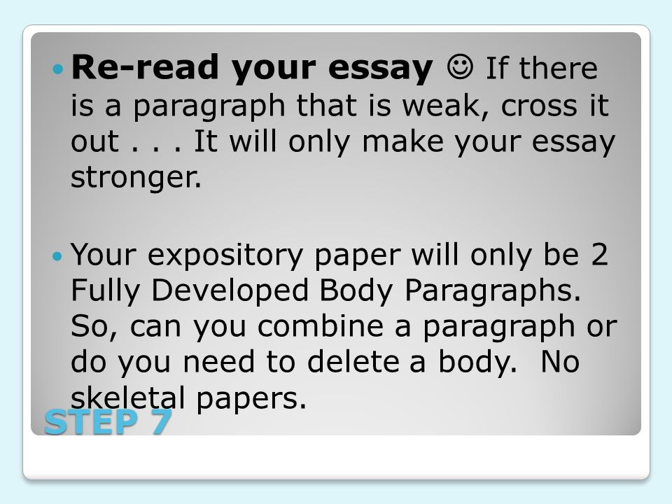 4 Paragraphs- DEVELOP Introduction Thesis- use words from prompt!!.