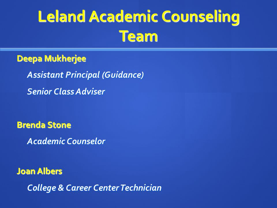 Career Center Web Site Accessed from Leland High Web Site http://www.sjusd.org/leland/ career_center/index.html