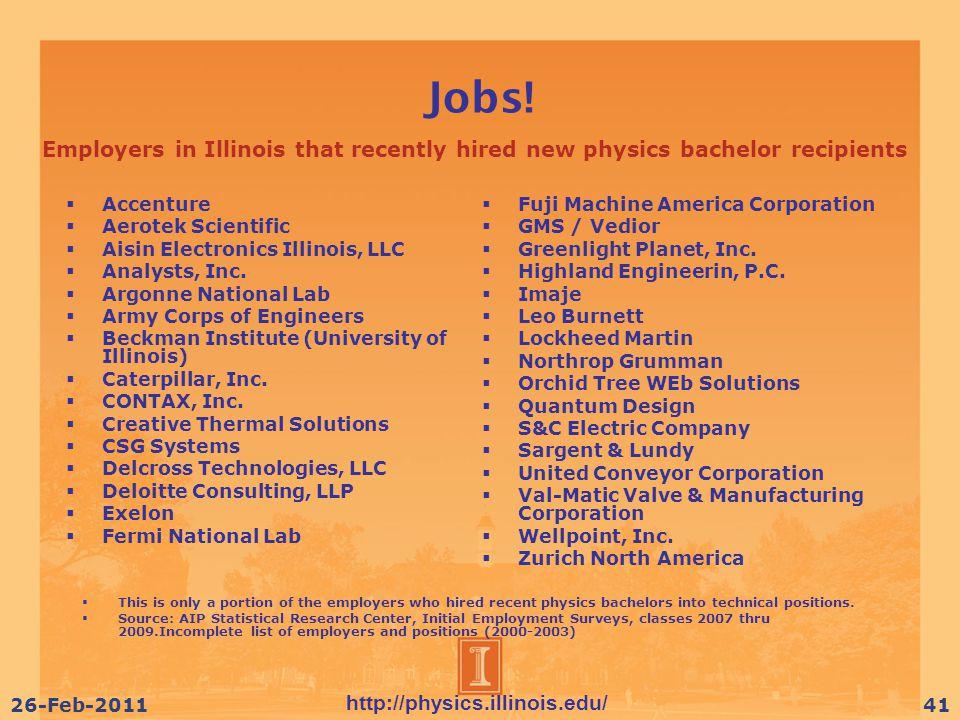 http://physics.illinois.edu/ 26-Feb-201141 Jobs.