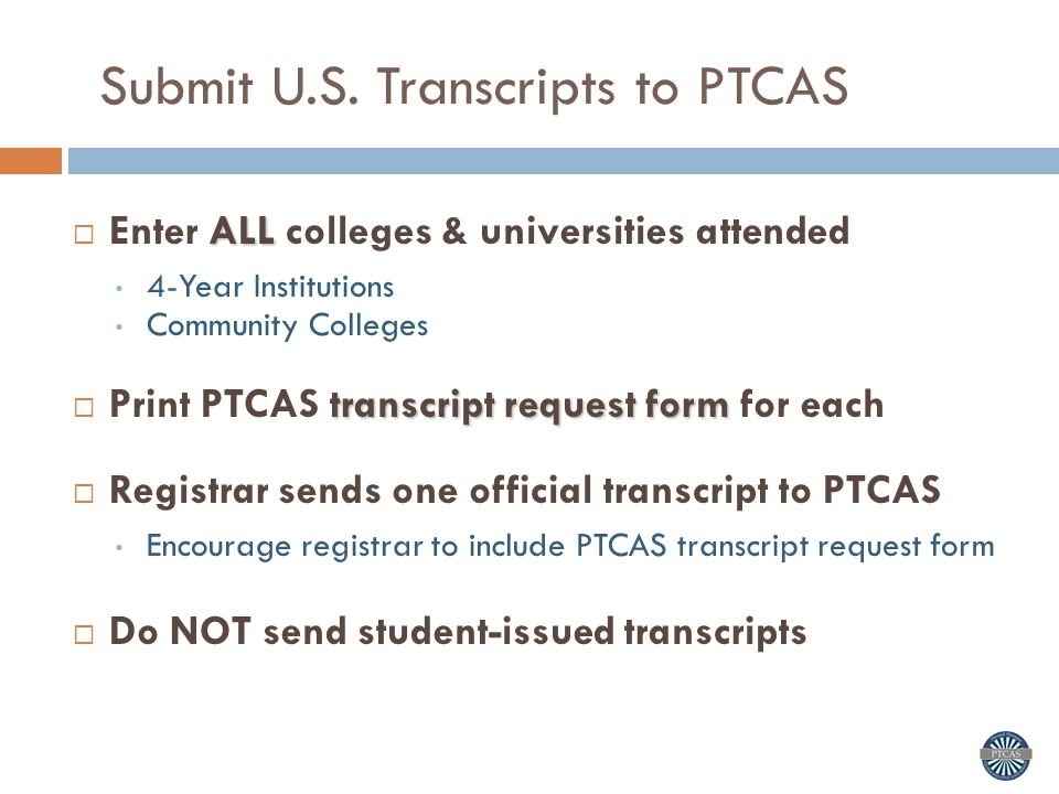 Ptcas Information Session Admissions Cycle  Ppt Download