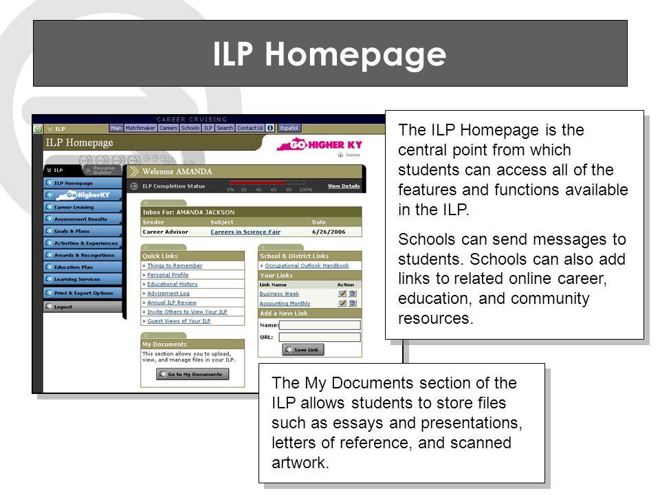 School ILP Administration Tool Retrieve student ILP usernames and passwords.