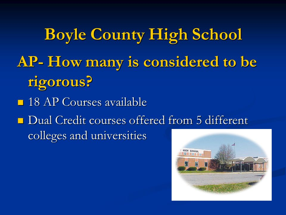Boyle County High School AP- How many is considered to be rigorous.