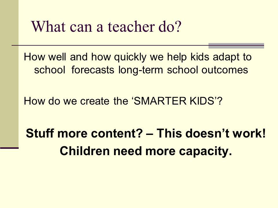 What can a teacher do.