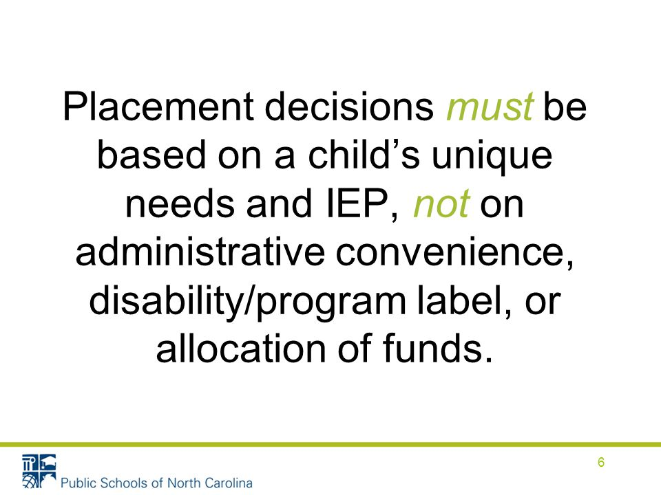 Removal from Nonacademic Settings If the student will not participate with nondisabled peers during nonacademic services and activities, these services and activities must be recorded on the IEP document.
