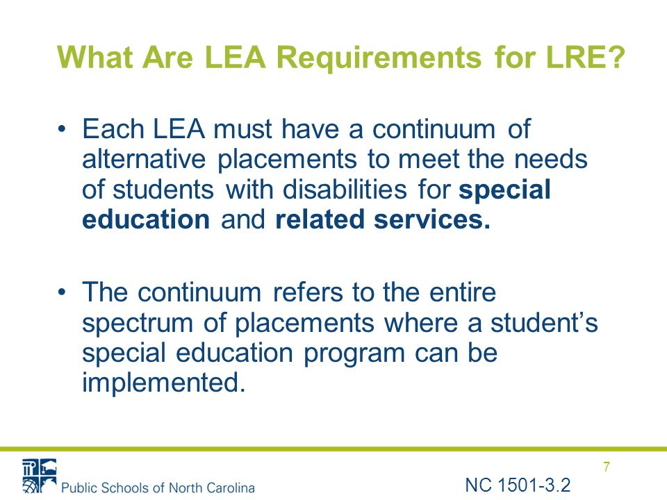 What Are LEA Requirements for LRE.