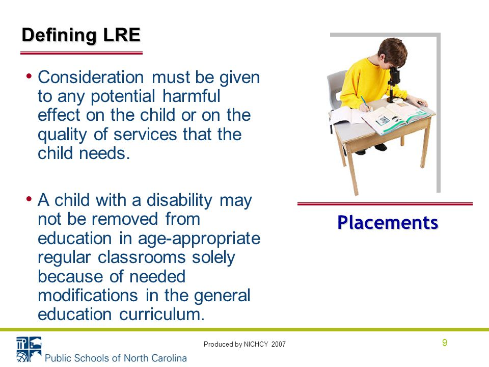 Consideration must be given to any potential harmful effect on the child or on the quality of services that the child needs.