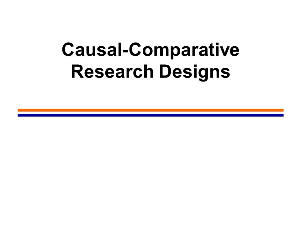 2 Causal-Comparative Research Method The Study of Relationships between Variables Educational research is done to DESCRIBE educational phenomena or to EXPLORE relationships between phenomena The type of relationship of greatest interest to educators is that involving cause and effect The discovery of cause-and-effect relationships is useful both for theory development and for educational improvement