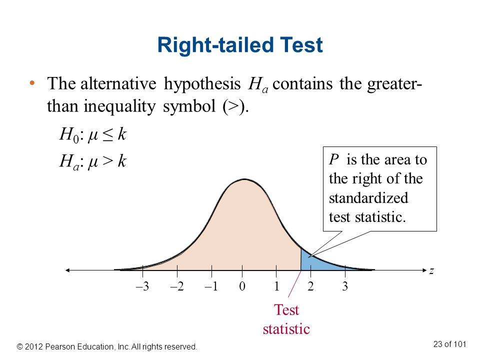 The alternative hypothesis H a contains the greater- than inequality symbol (>).