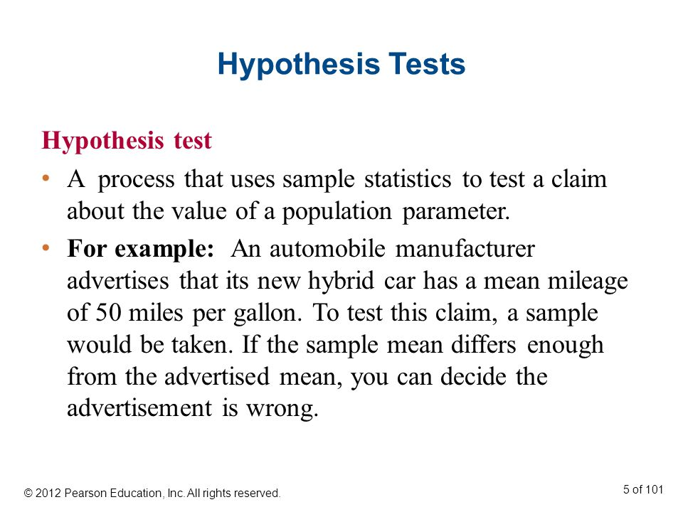Section 7.4 Hypothesis Testing for Proportions © 2012 Pearson Education, Inc.