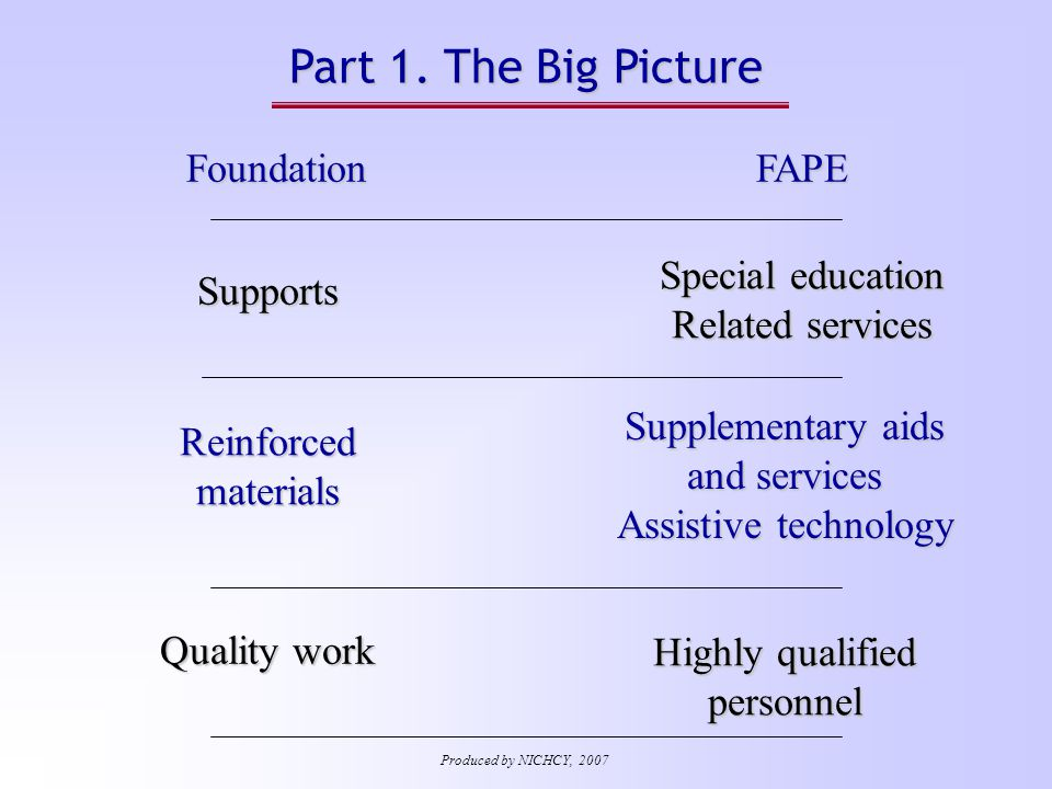 IEP Document: What's Included.