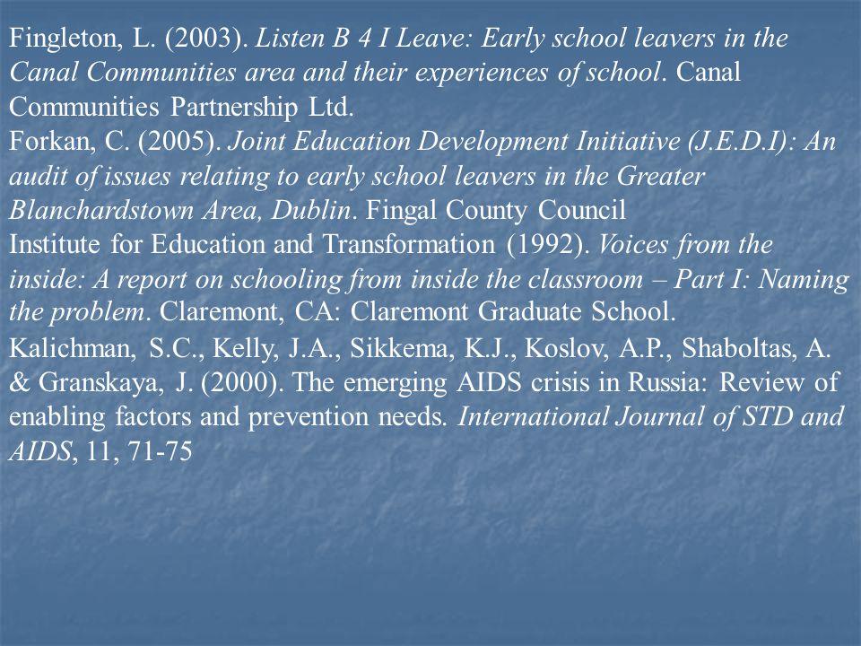 Fingleton, L. (2003).