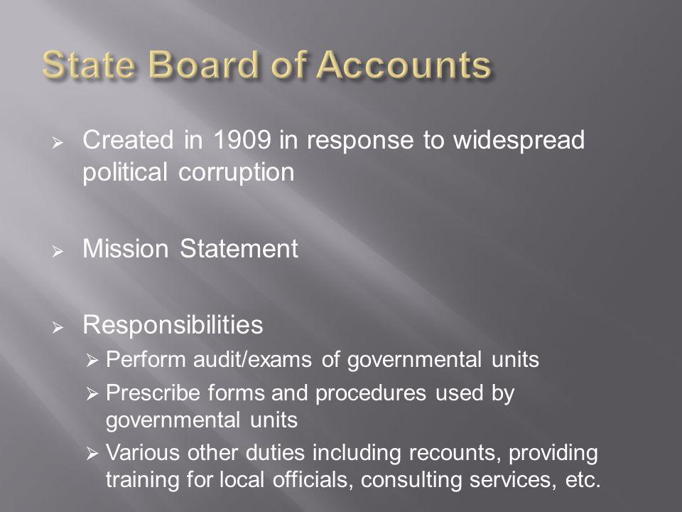 Organizational Flowchart  SBOA Board (State Examiner, 2 Deputies)  Office Supervisors (2 per area) 1.