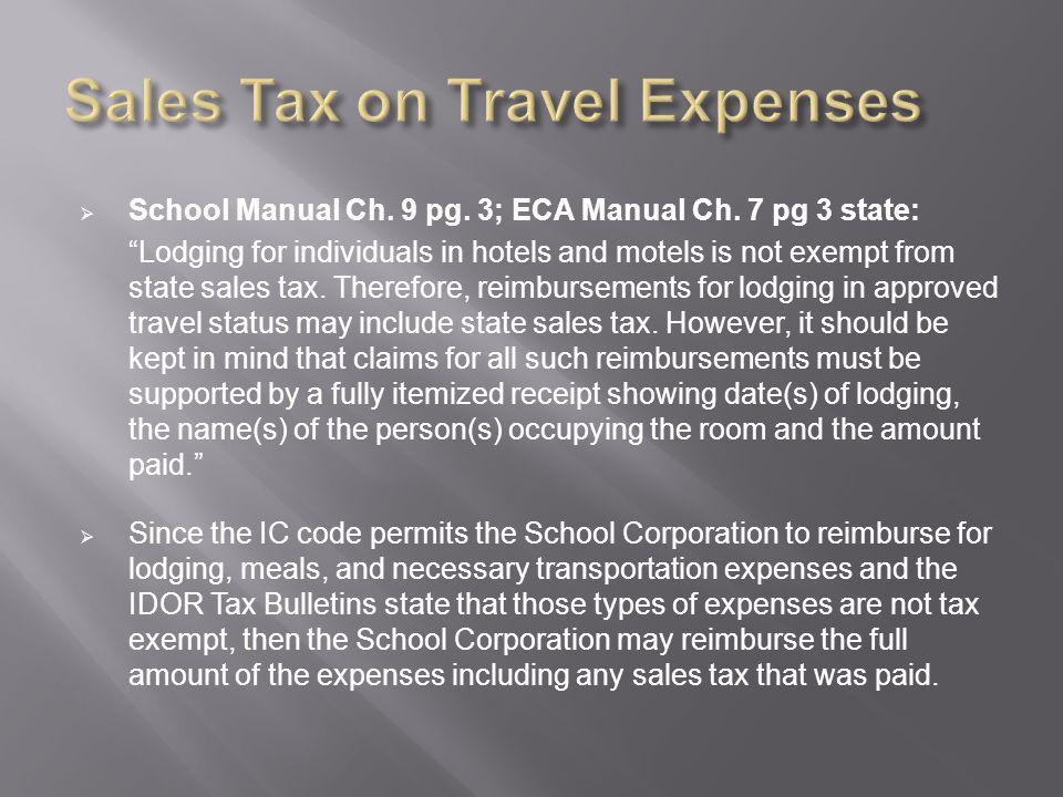  School Manual Ch. 9 pg. 3; ECA Manual Ch.