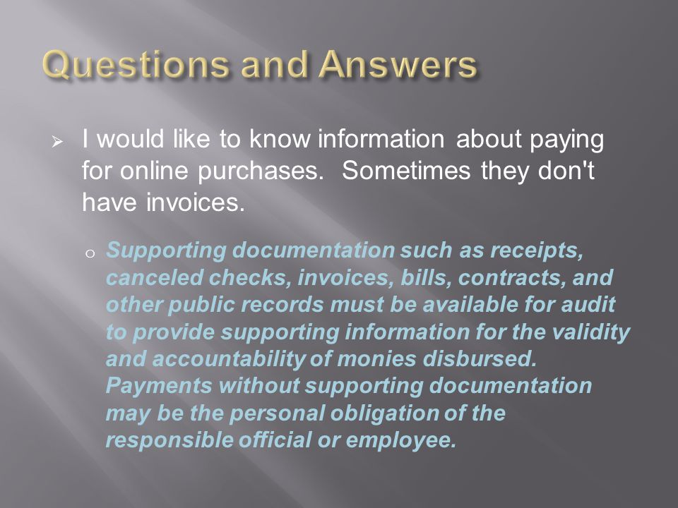  I would like to know information about paying for online purchases.