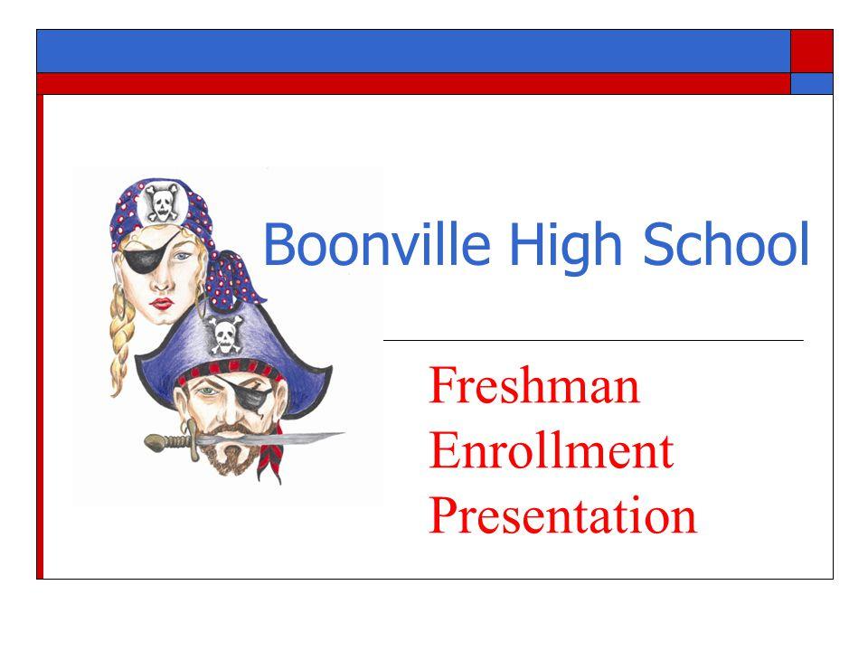 Boonville High School Freshman Enrollment Presentation