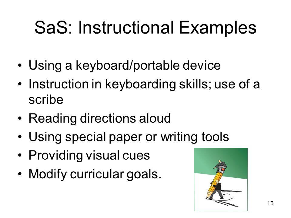 14 SaS: Collaborative Examples Communication (e.g.