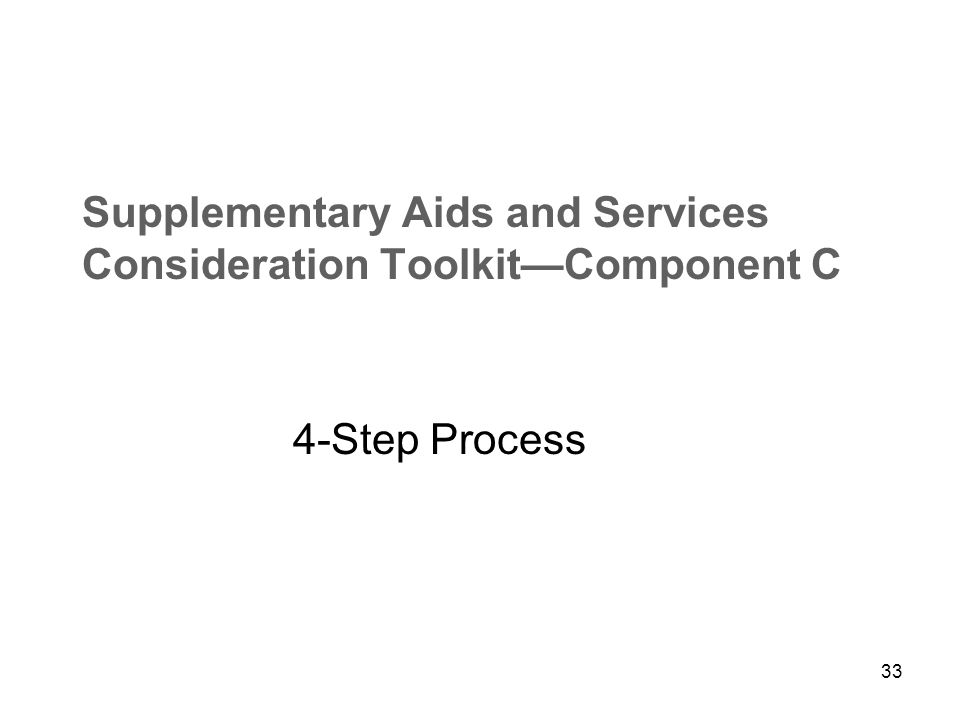 32 Recommended Implementation Sequence Highlighted graphic is second page of each toolkit component, identifying: Highlighted graphic is second page of each toolkit component, identifying: Task Suggested personnel Which component/ section Flip Chart Resource Document