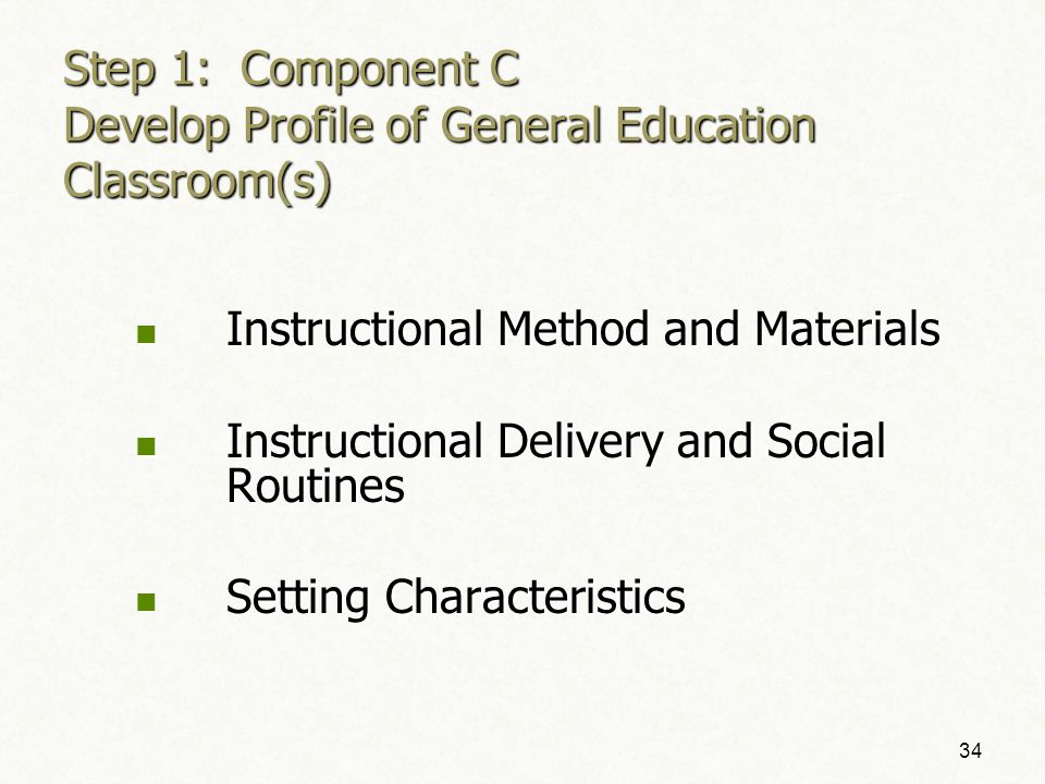 Supplementary Aids and Services Consideration Toolkit—Component C 4-Step Process 33
