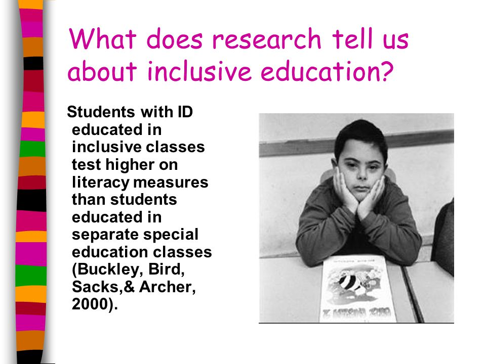 What does research tell us about inclusive education.